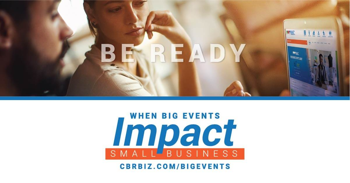 CBR guides Small businesses prepare facing Big events impact