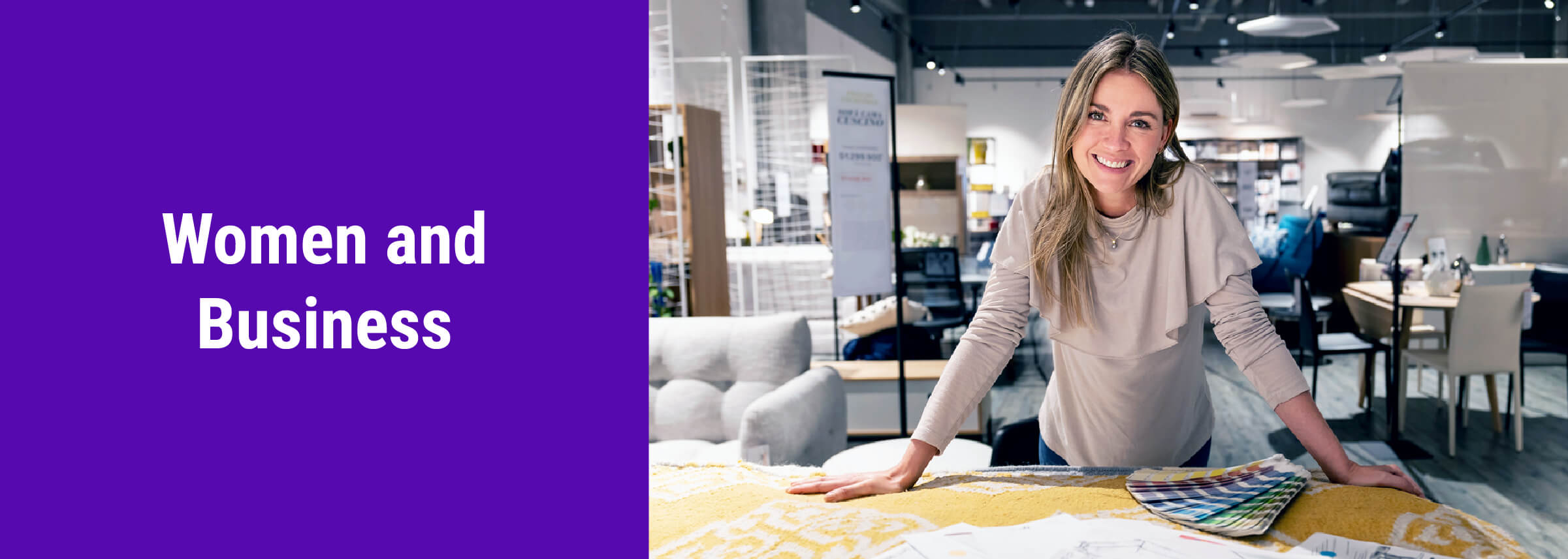Women and business page banner
